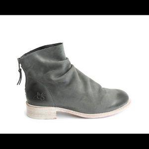 John Fluevog Foster Slouch Ankle Boot Grey 9